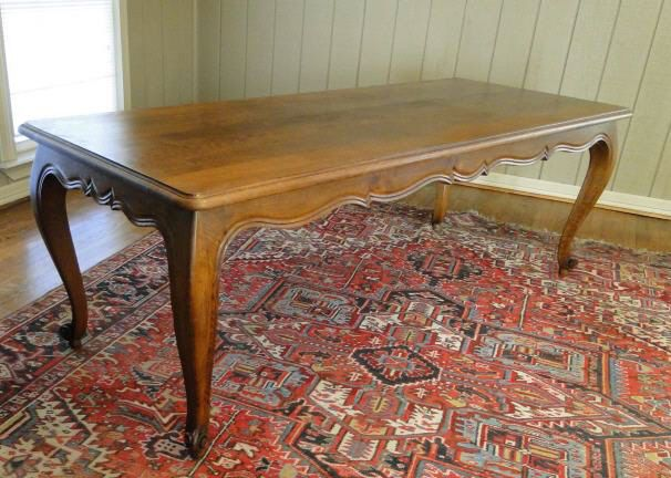 Antique FARM TABLE~ Dining ~ French ~LONG ~ Oak With Cabriole Legs ~  Qualilty
