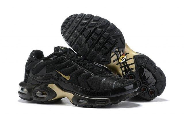 Mens Nike Air Max Plus Tn Black Gold 852630 001 Males Running Shoes Nike Air Max Tn Nike Air Max Plus Nike Air Max