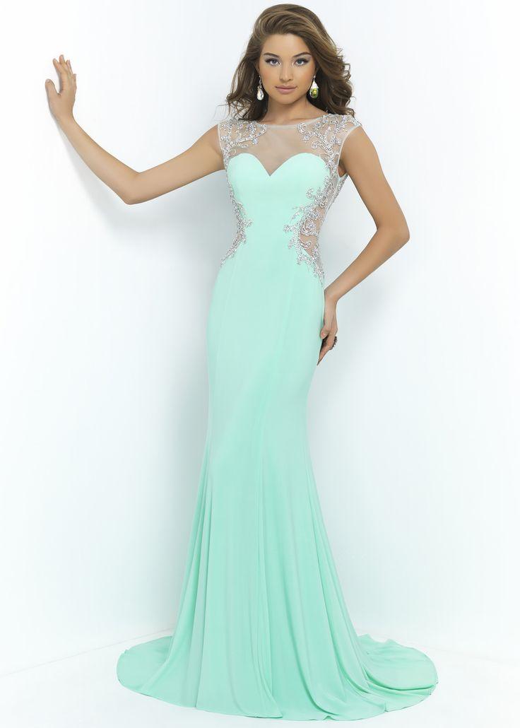 Blush 9942 Sexy Illusion Dress