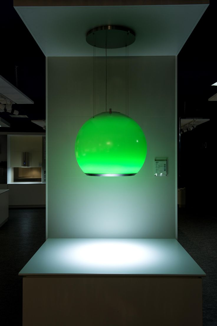 From F-light Generation created by Faber, the Arkea hooh with RGB led green colour