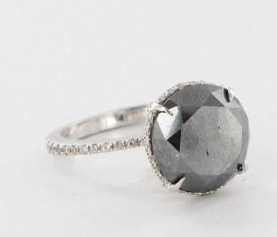 Oh la la  Estate 14k White Gold 5ct Black Diamond Engagement Ring Fine Bridal Jewelry 5 75 | eBay