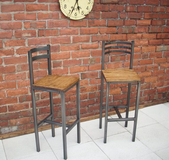 Beautiful handmade bar chairs / stools The bar chairs have been handmade to our own design in our family workshop, there are two designs a 2