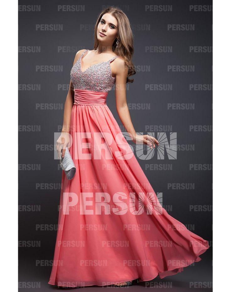 Glittering Beading Straps Tencel A-line Evening Dress Sale Online - DRESSESMALL