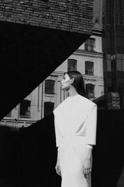 all white look - black and white editorial