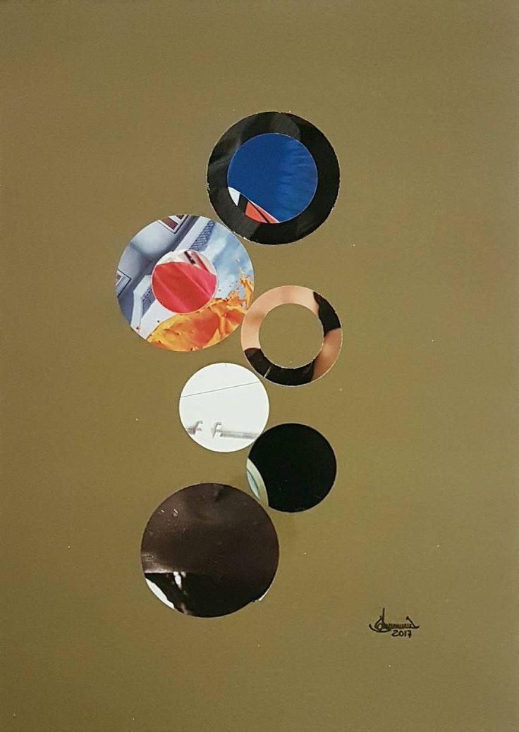 "Saatchi Art Artist Richard Brandão; Collage, ""CIRCLES Nº 020"" #art"