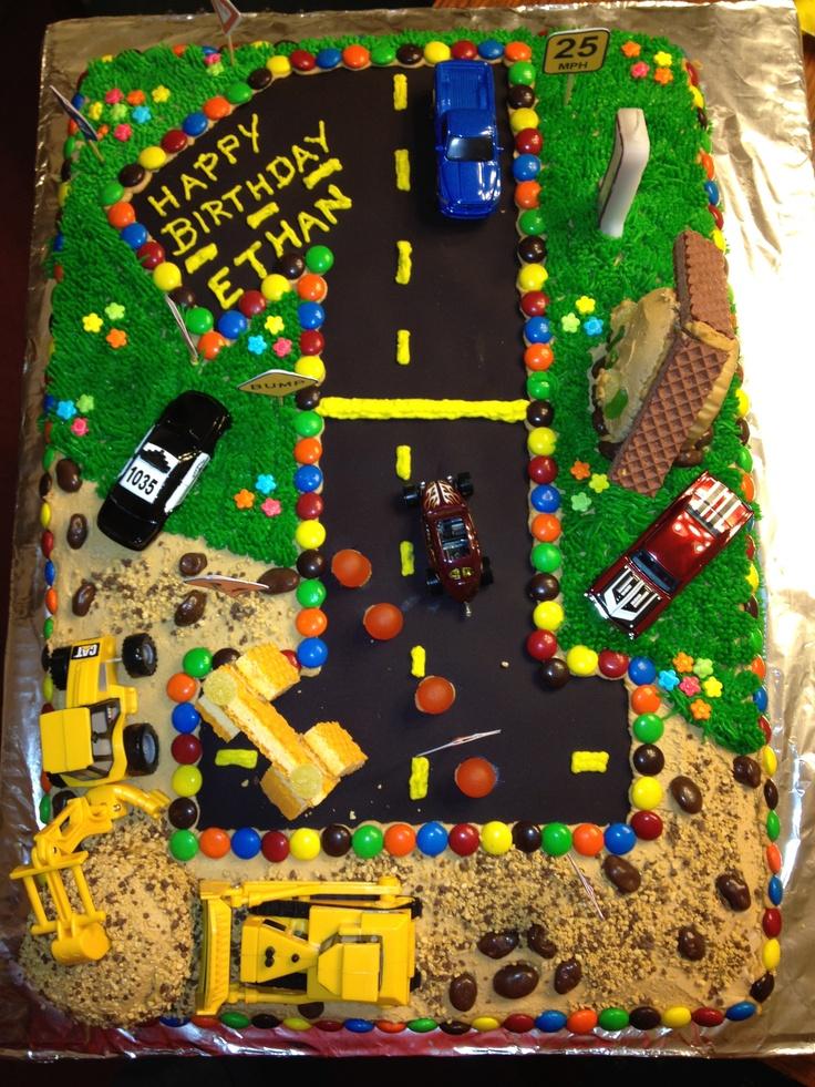 Cars and Trucks Birthday Cake  party ideas  Pinterest