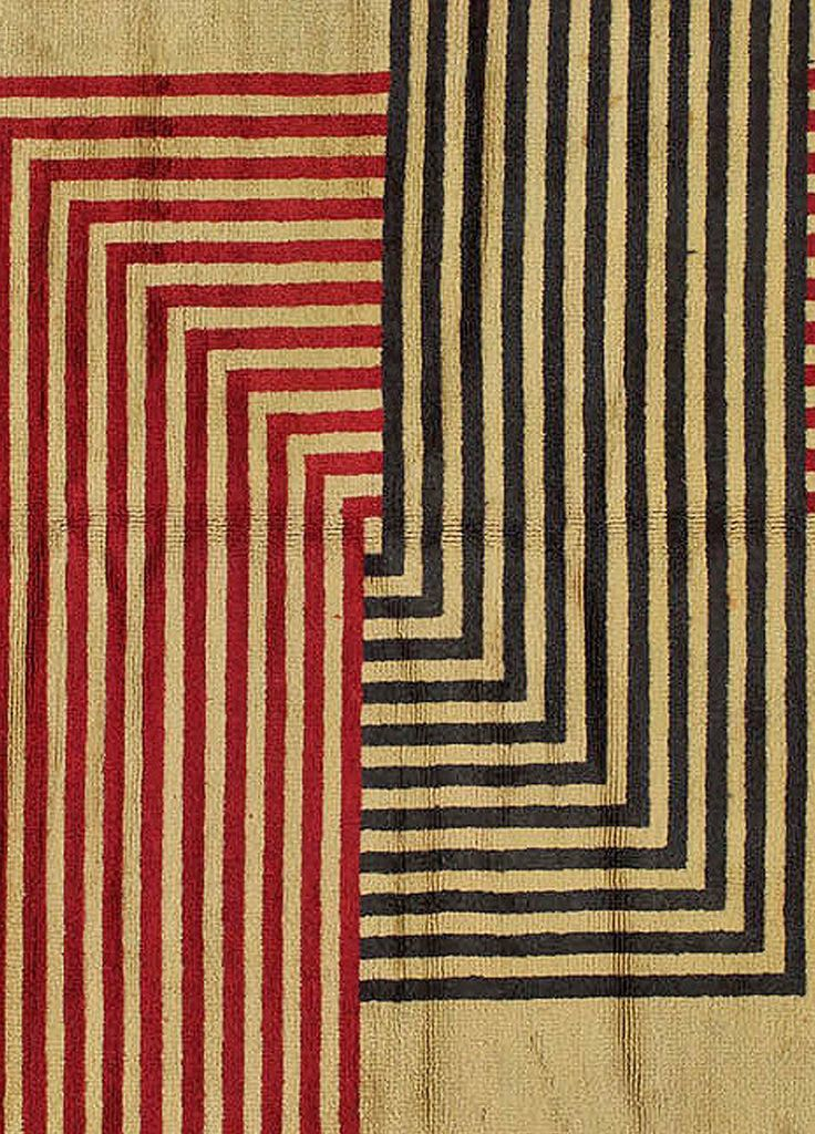 Vintage French Art Deco Rug by Marion Dorn at 1stdibs