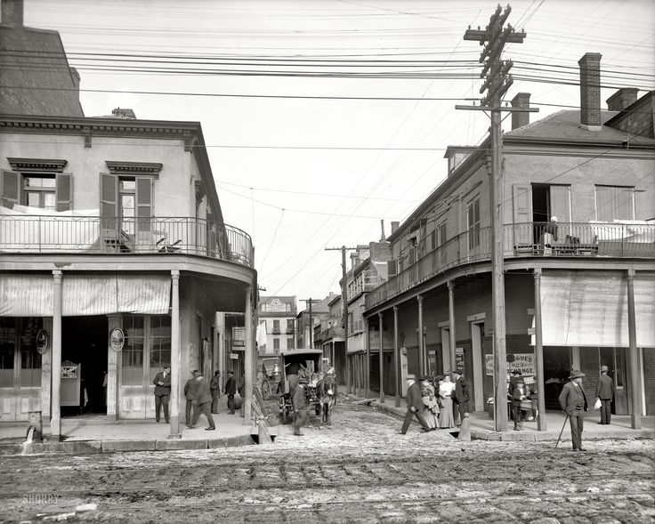 New Orleans circa 1906. Italian headquarters, Madison Street. click on pic til y