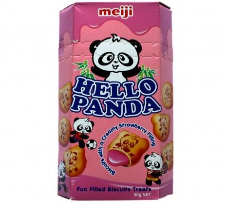 Meiji Hello Panda Strawberry Biscuits 50G at Rs.60 online with shipping in India.