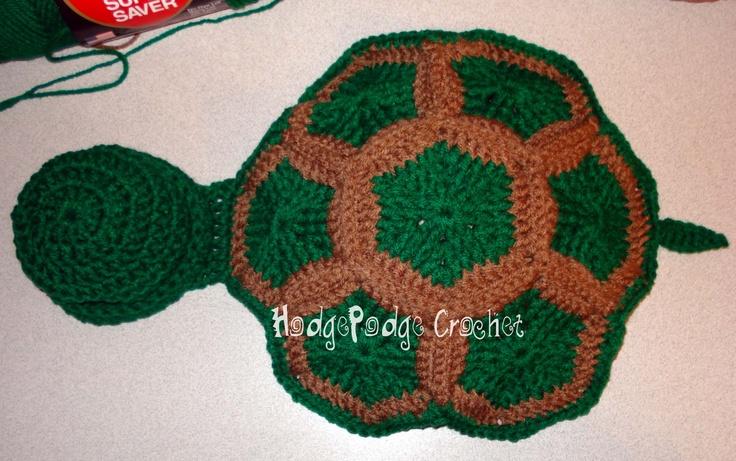 """Infant Turtle Shell """"Blanket""""Turtles Shells, Shells Blankets, Free Pattern, Turtles Blankets, Photo Props, Crochet Turtles, Photos Props, Crochet Pattern, Infants Turtles"""