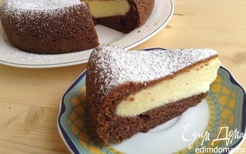 Шоколадно-творожный пирог в мультиварке | Кулинарные рецепты от «Едим дома!»