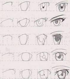 Como fazer olho, modo anime