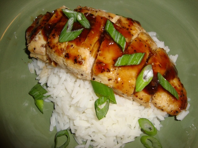 Teriyaki Chicken & Jasmine Rice with Homemade Teriyaki Sauce. Soo Good!
