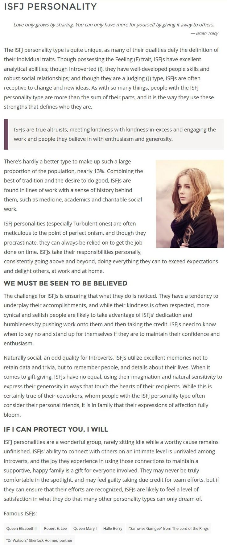 ISFJ Personality
