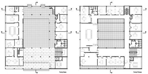Giuseppe terragni casa del fascio the space is in the for Log home planimetrie