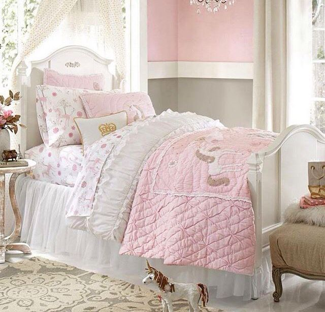 Unicorn bed from pottery barn