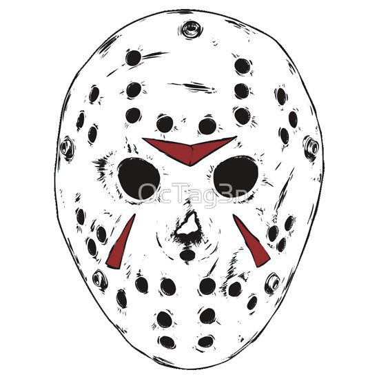 Resultado de imagen para dibujo mascara jason