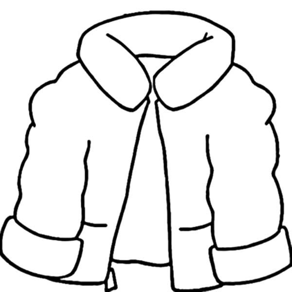 Winter Clothing, : Coat for Winter Clothing Coloring Page