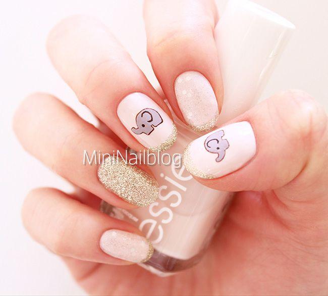 Elephant Nail Art Design