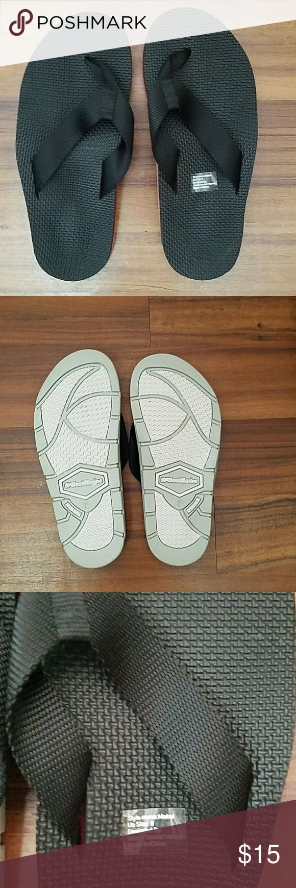 Brand new West Marine Slipper/Flip  Flop Brand new black West Marine slippers. Grip on the bottom of the flip flops. West Marine Shoes Sandals & Flip-Flops