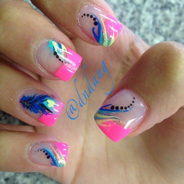 Bright Nail Art Design Ideas: Best 20+ Bright Nail Art Ideas On Pinterest