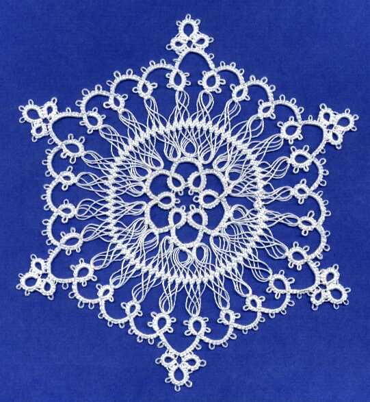 Lenore English's Snowflake in Tatting and Hairpin Lace