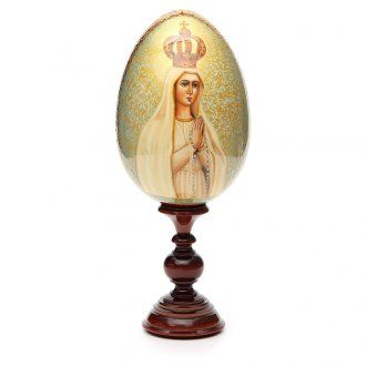 Russian Egg HAND PAINTED Our Lady of Fátima 36cm | online sales on HOLYART.co.uk