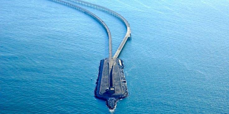 The Chesapeake Bay Bridge-Tunnel 😐