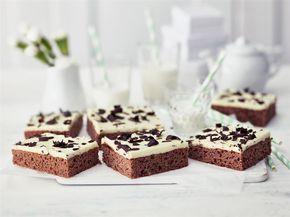 Mokkapalat saivat nyt kaveriksi minttu-suklaapalat. Tumma piirakkapohja saa pinnalle mintun makuisen kuorrutteen, jota voi halutessaan valmistaa vaikka tuplana!