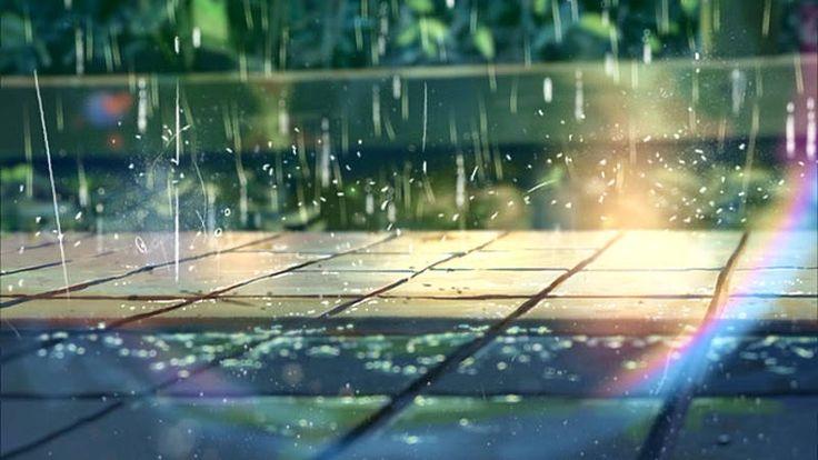 言の葉の庭映像背景感想