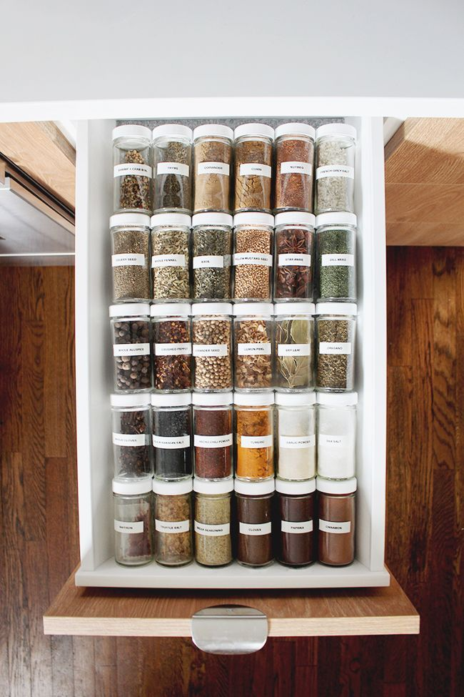spice drawer organization – #drawer #kitchen #Orga…