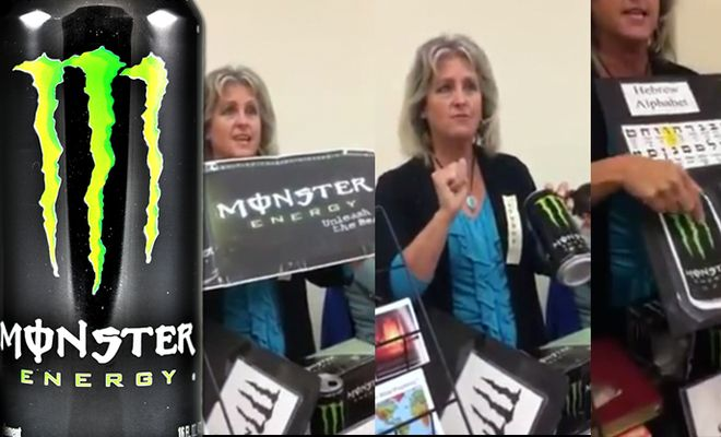 Radical Christian Woman Confirms That Monster Energy Drink Is 'The Work Of Satan'