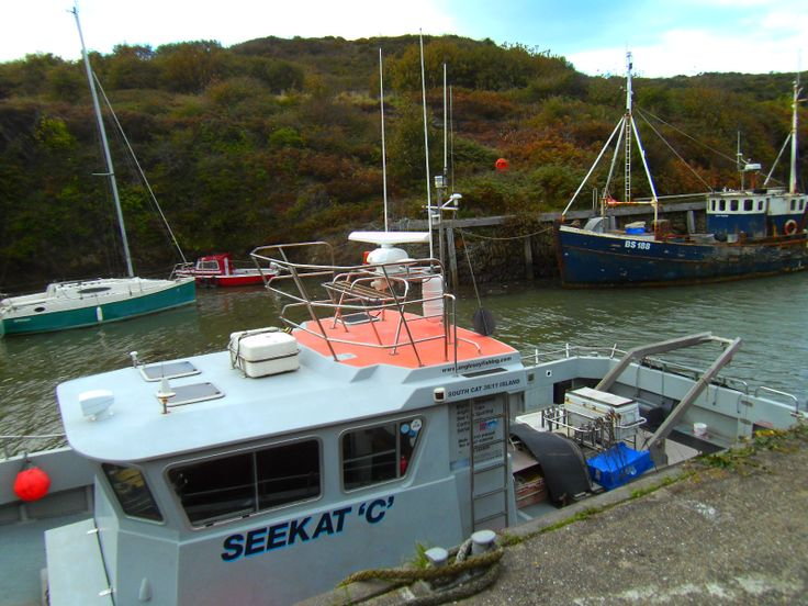This is a photograph of the boats at Amlwch Port.