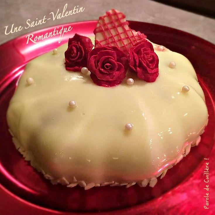 Bavarois vanille-citron coeur de fraise pour une Saint-Valentin romantique