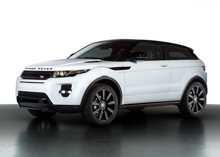 Black on White Range Rover Evoque