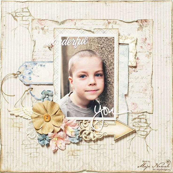 CraftHobby Oliwiaen: Wonderful You. layout 30x30 cm.