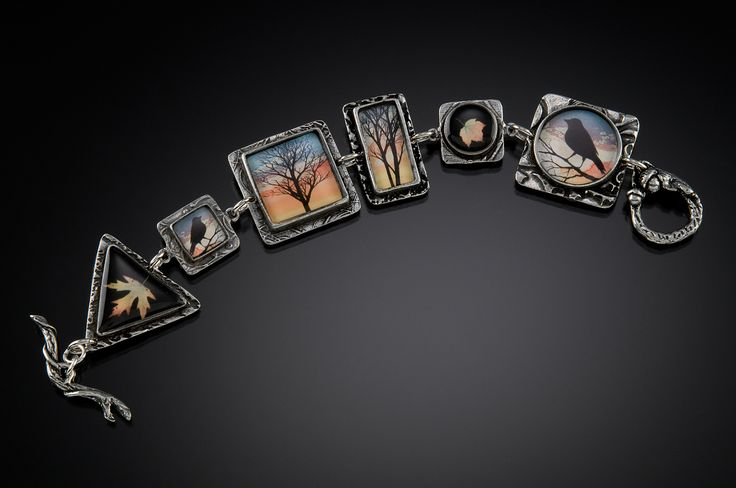 Winter Trees by Laurie Leonard of Jeanette, PA. 2014 NICHE Awards Finalist. Category: Jewelry, Fashion. #jewelry, #fashionjewelry, #bracelet, #wintertrees, #trees