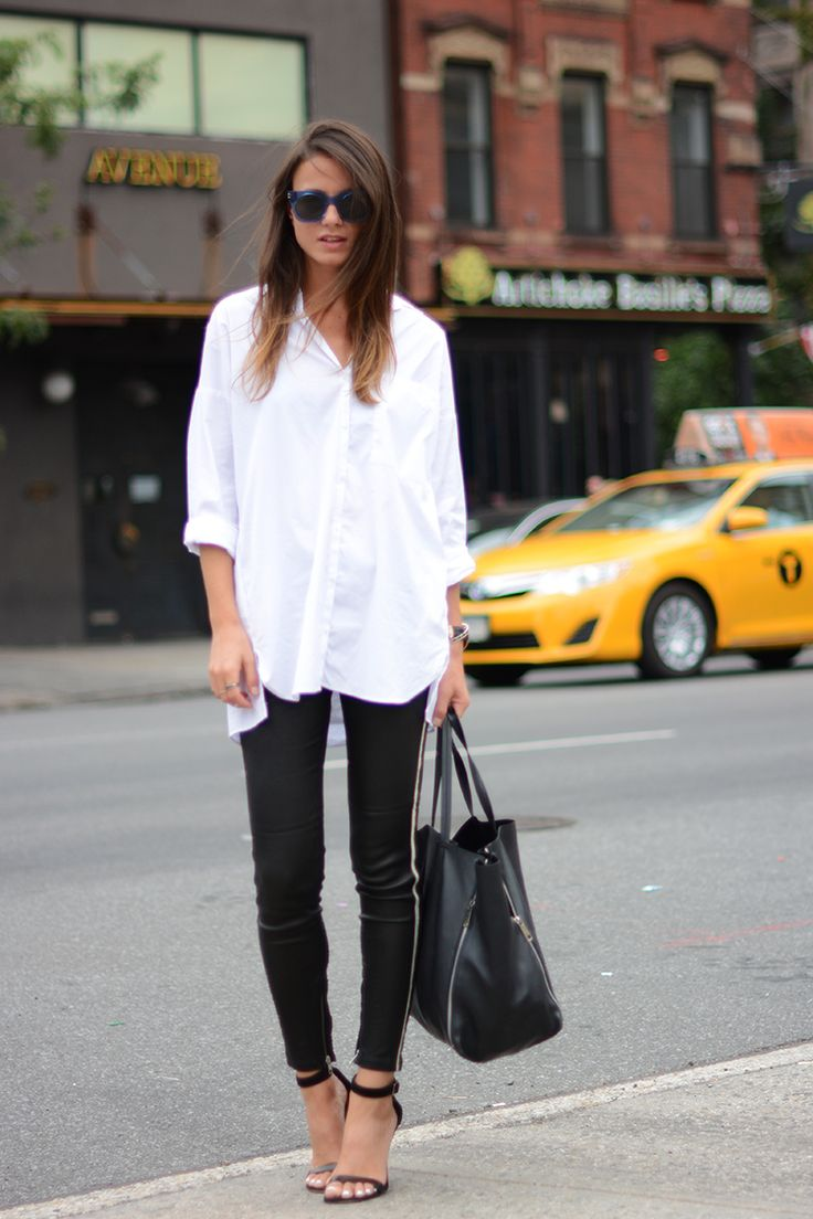 new york, iro leather pants, sandals, white shirt, celine bag, marc jacobs sunglasses
