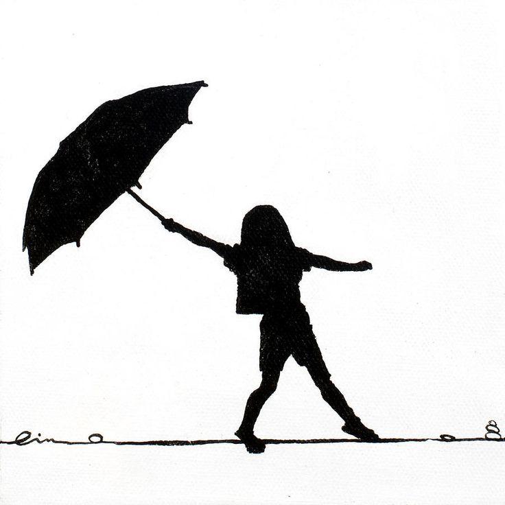 Little Girls On Little Canvas | Girls, Umbrellas and On