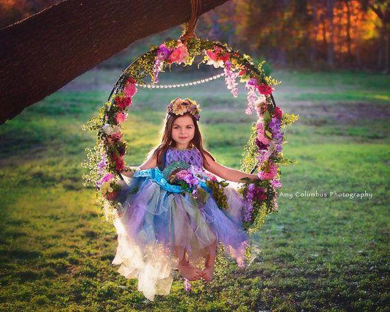 Flor swing y garland con falda de flor de hadas y | Etsy