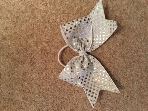 #Silver #cheerleading hair bow,  View more on the LINK: http://www.zeppy.io/product/gb/2/282264977710/