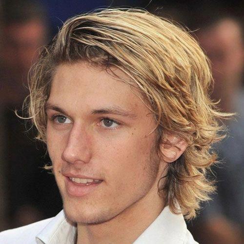 Great Mid Length Medium Mens Hairstyles Midlengthmediummenshairstyles Men Blonde Hair Thick Blonde Hair Long Hair Styles Men
