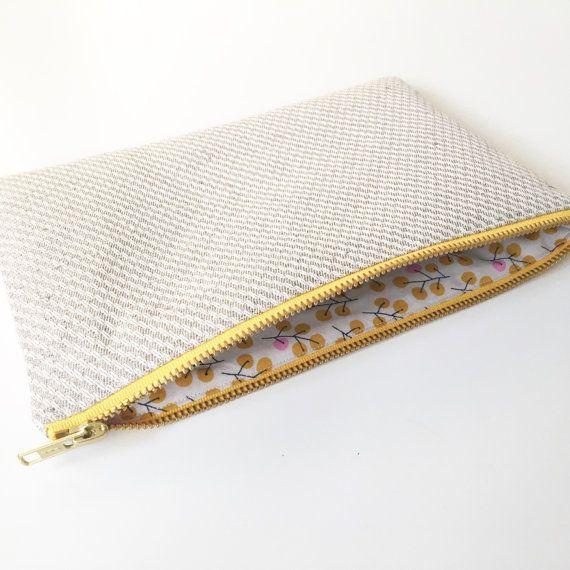 Hemp Make up bag Linen make up bag Hemp cosmetic by ElizaElizaUK