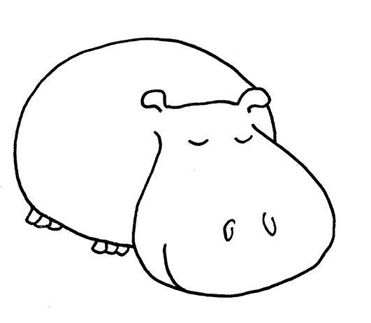 Hippo Cute Clip Baby Art