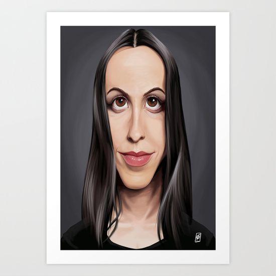 Society6 Print celebrity | art | decor | wall art | inspiration | caricatures | home decor | idea