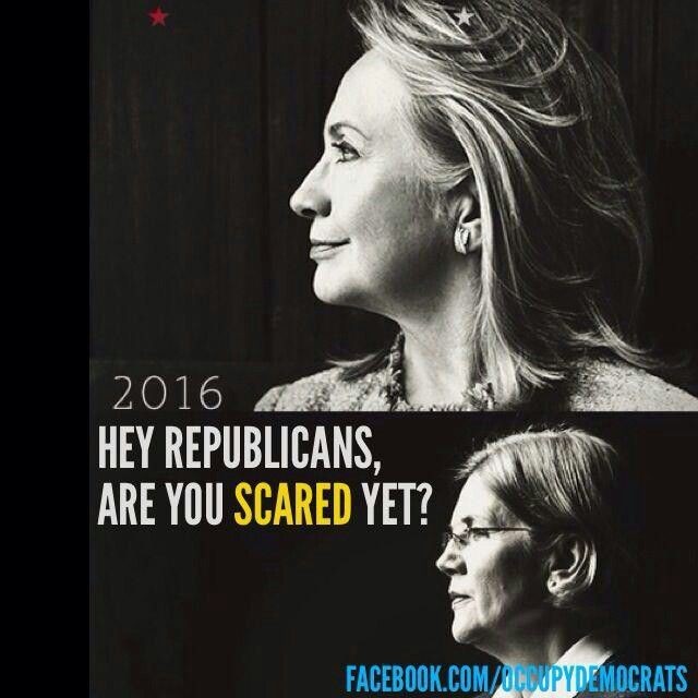 A CLINTON / WARREN TICKET? YES PLEASE! Wow, these two would kick ass and take names! #UniteBlue