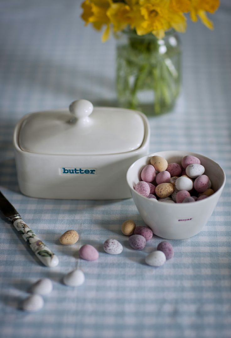 best kitchen accessories images on pinterest  kitchen  - sugar bowl £ and butter dish £ from keith brymer jones