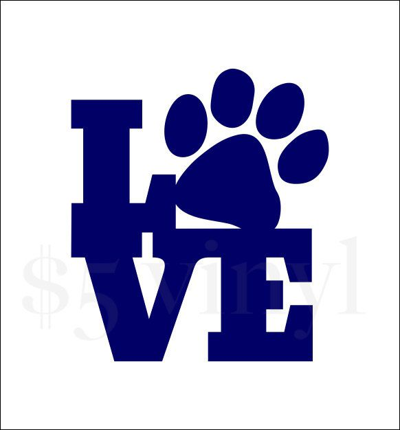 Puppy love vinyl wall art car decal sticker window decal paw