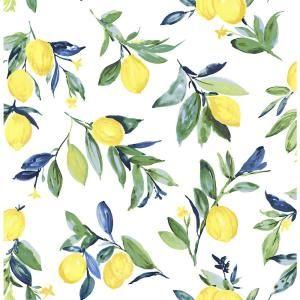 NuWallpaper 30.75 sq. ft. Lemon Drop Yellow Peel and Stick