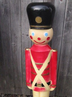 VINTAGE  UNION HARD PLASTIC TOY SOLDIER BLOW MOLD CHRISTMAS LIGHT,ORG BOX | #319440215